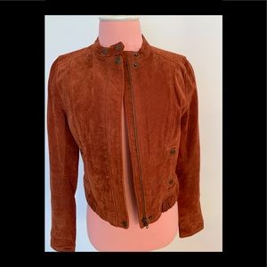 Rust color suede jacket
